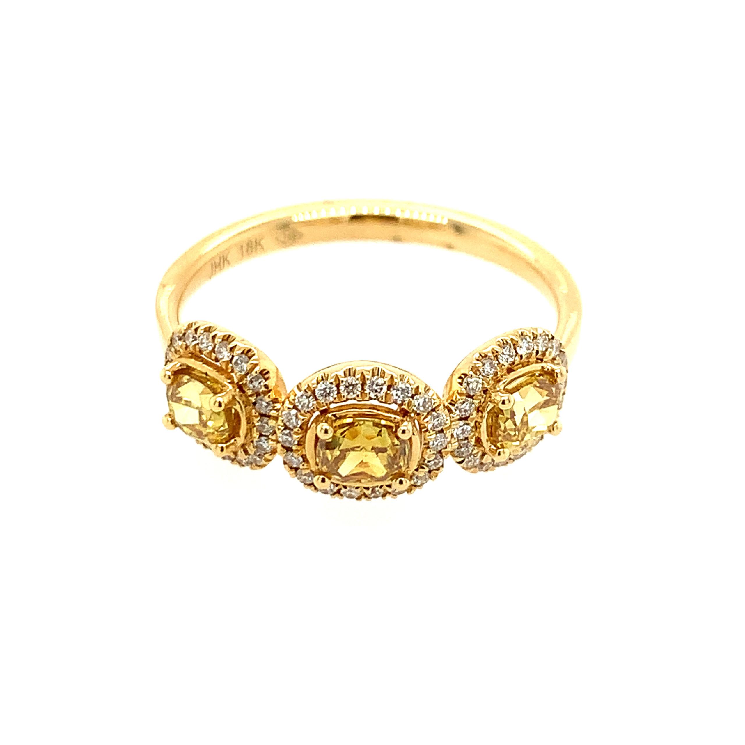 Yellow Gold Yellow Diamond Ring