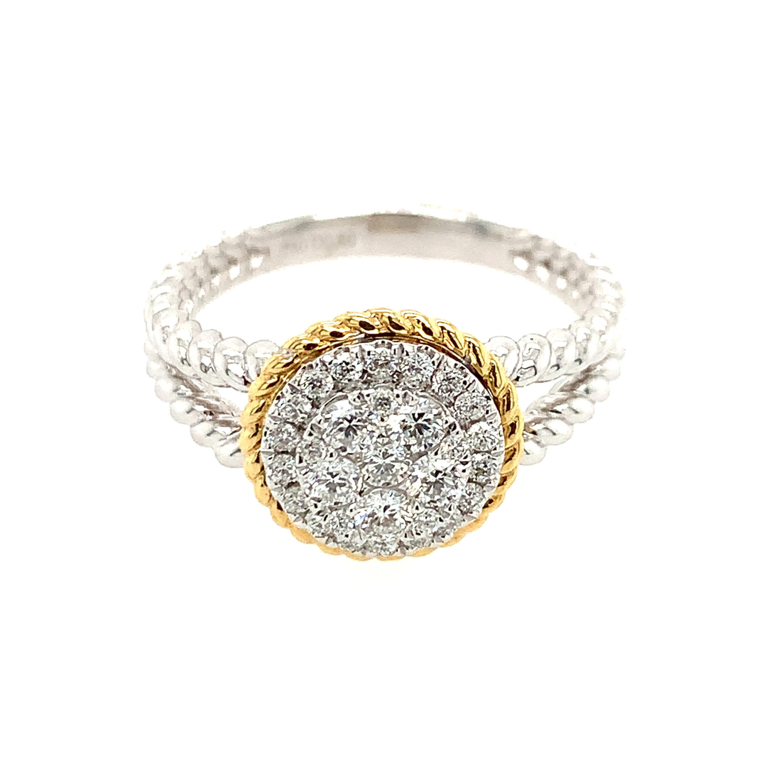 Two-Tone Diamond Fashion Ring