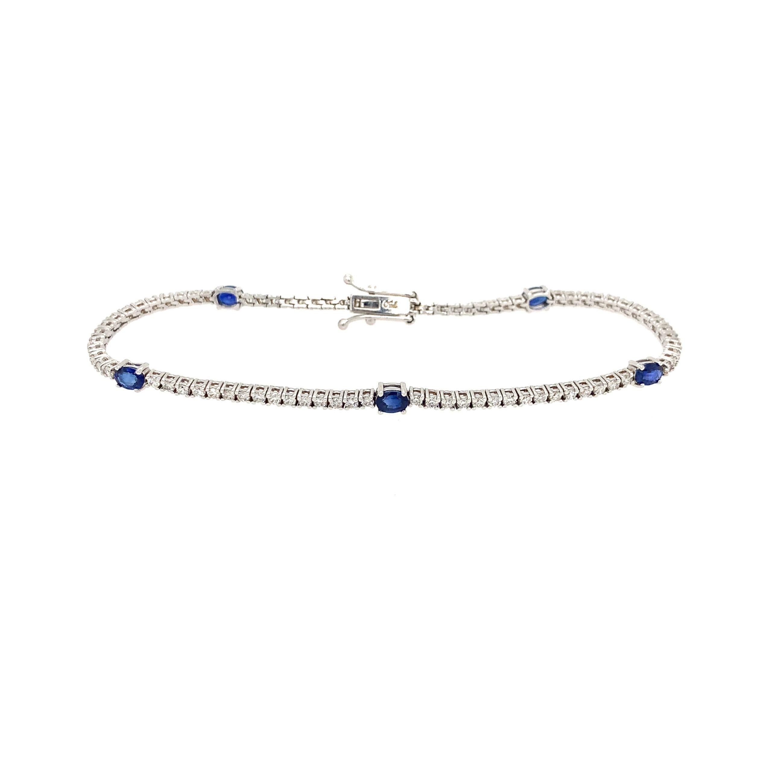 White Gold Sapphire Bracelet
