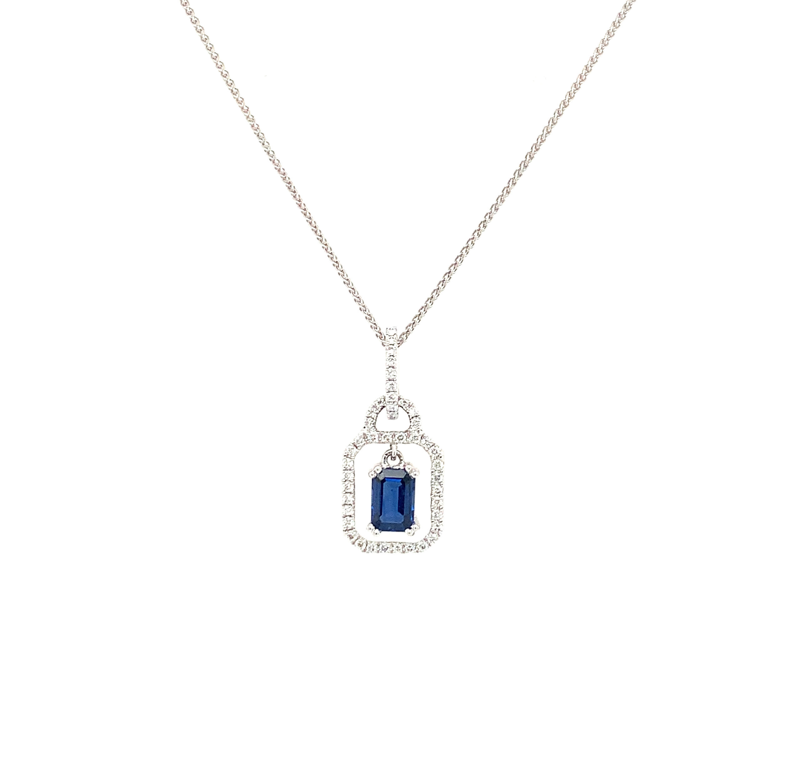 White Gold Sapphire Pendant