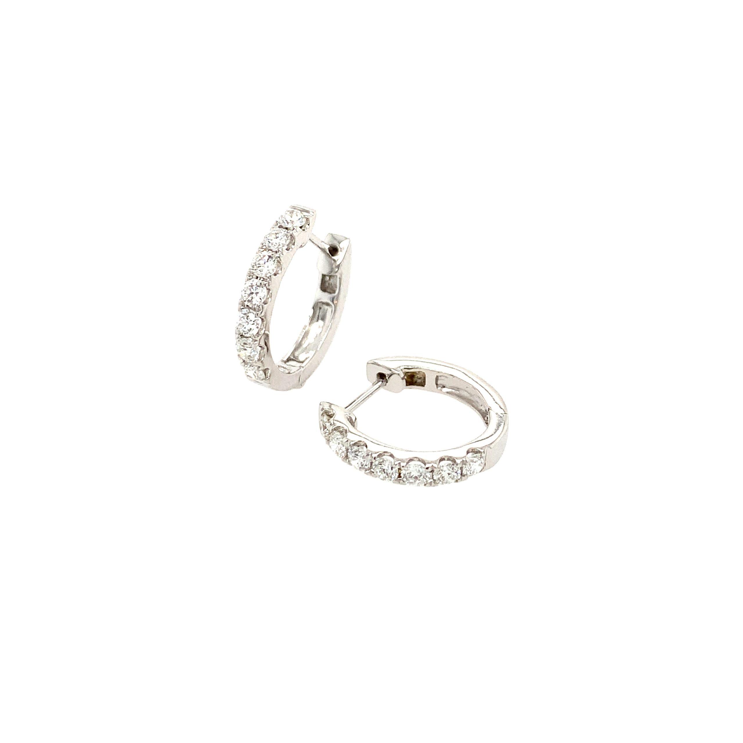 White Gold Diamond Hoops